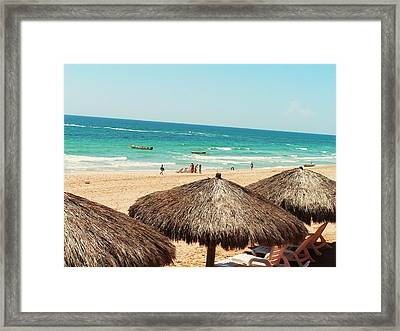 Framed Print featuring the photograph The Beach At Puerto Pensasco by Rand Swift