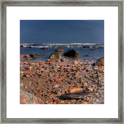 The Beach Framed Print by David Hahn