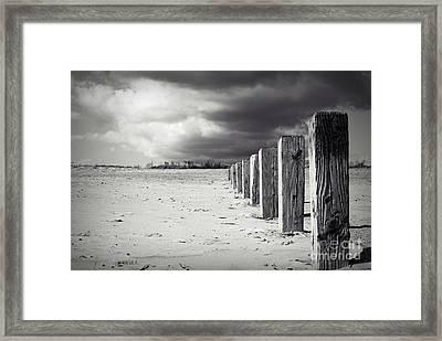 The Beach Monochrome Framed Print by Stephen Clarridge