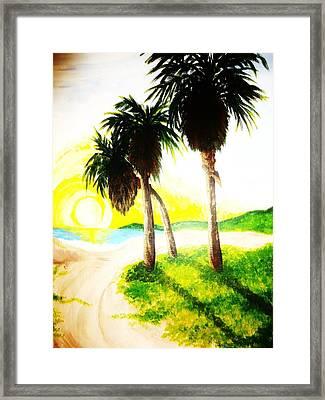 The Beach Framed Print by Ragdoll Washburn