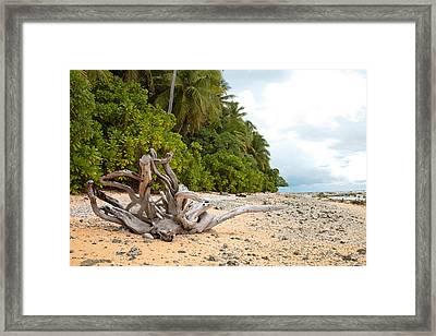 The Beach Of Pakin Framed Print by John Marelli