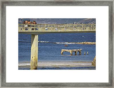 The Beach Framed Print by Stefano  Figalo