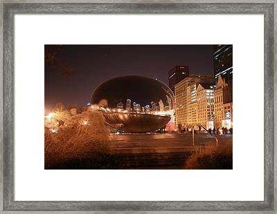 The Bean On A Winter Night Framed Print