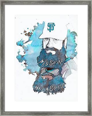 The Beard Framed Print by Michael  Pattison