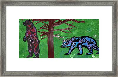 the bears of Canada Framed Print by Robert Margetts