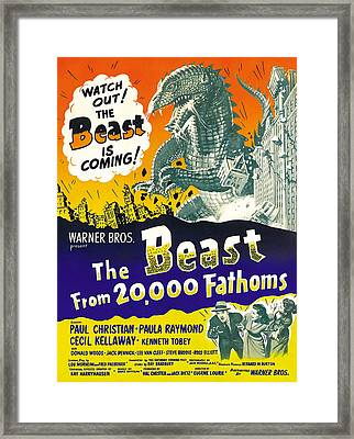 The Beast From 20,000 Fathoms, Advance Framed Print by Everett