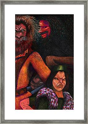 The Beast Meets With Asema And The Forest Lord Framed Print