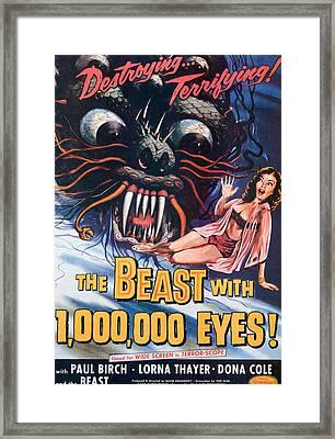 The Beast With A Million Eyes, 1955 Framed Print
