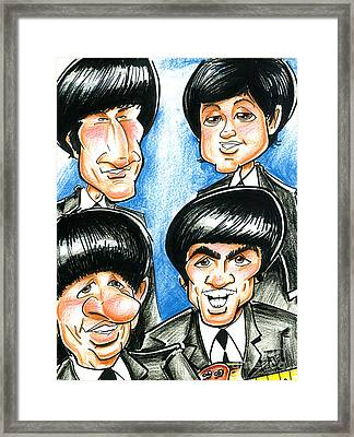 The Beatles Framed Print by Big Mike Roate