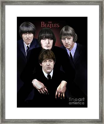 The Beatles Framed Print by Reggie Duffie