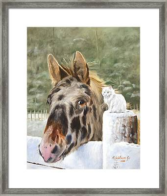 Framed Print featuring the painting The Beauty And The Beast by Karen Wilson