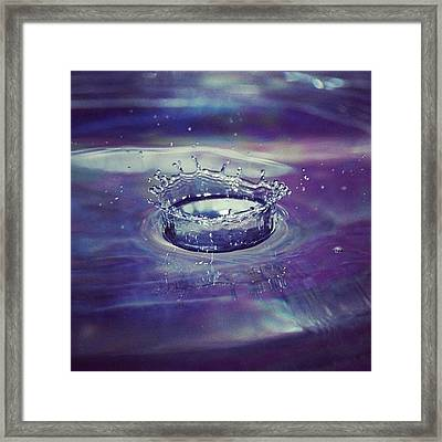 The #beauty Of #water          #drop Framed Print