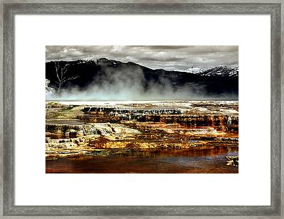 The Beauty Of Yellowstone Framed Print by Ellen Heaverlo