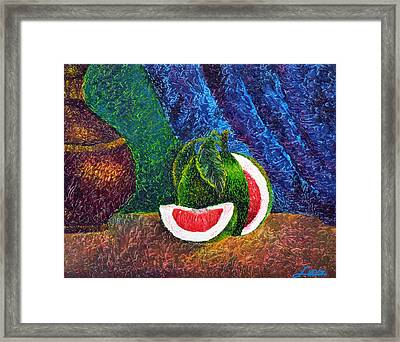 The Beauty Within Series--juicy Grapefruit Framed Print by Luxo N P