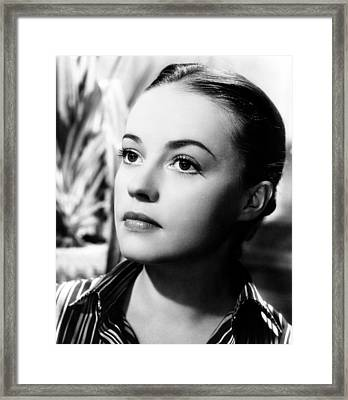 The Bed, Jeanne Moreau, 1954 Framed Print by Everett