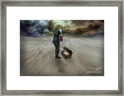 The Beggar Framed Print by Eugene James
