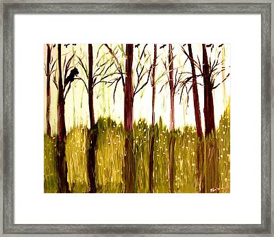 The  Beginning Of Winter Framed Print by Pretchill Smith