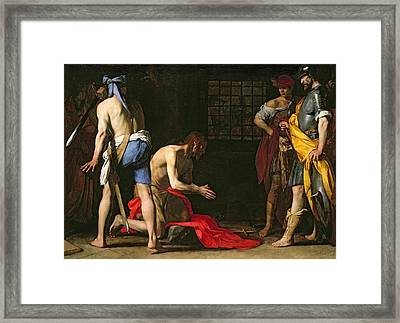 The Beheading Of John The Baptist Framed Print by Massimo Stanzione