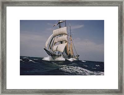 The Belgian School Ship Mercator Framed Print