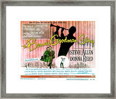 The Benny Goodman Story, Donna Reed Framed Print by Everett