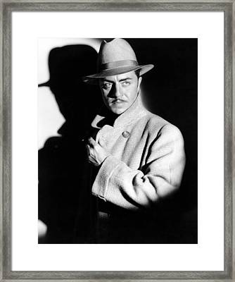 The Benson Murder Case, William Powell Framed Print by Everett