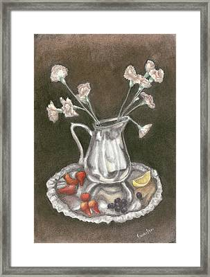 The Bent Flower Framed Print