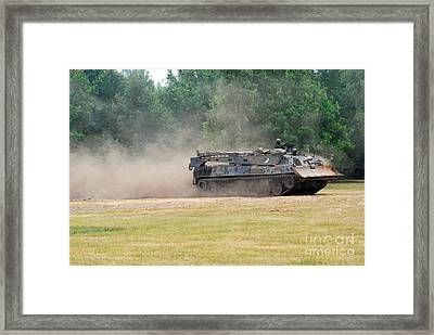The Bergepanzer Used By The Belgian Army Framed Print by Luc De Jaeger