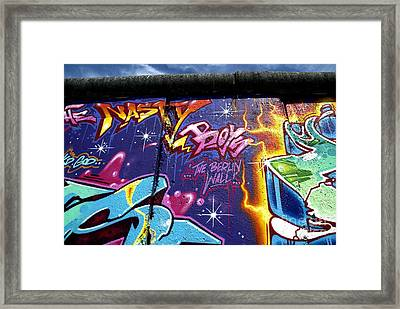 The Berlin Wall 1 Framed Print by Mark Azavedo