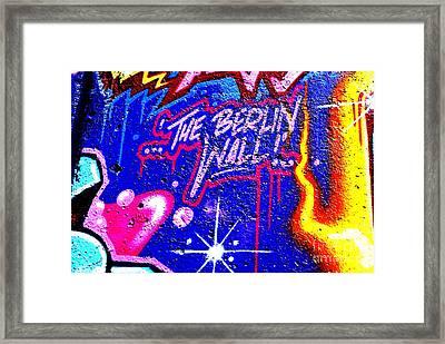 The Berlin Wall 3 Framed Print by Mark Azavedo
