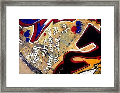 The Berlin Wall 4 Framed Print by Mark Azavedo