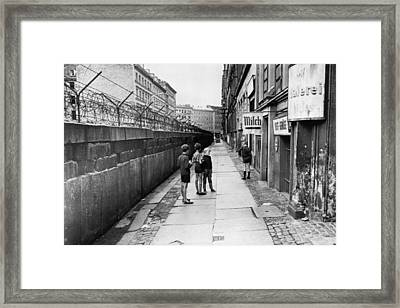 The Berlin Wall, Separating West Berlin Framed Print by Everett