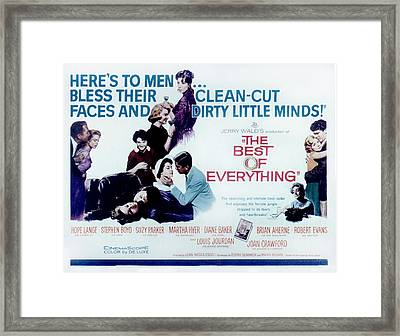 The Best Of Everything, Brian Aherne Framed Print