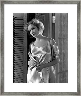 The Best People, Miriam Hopkins, 1930 Framed Print