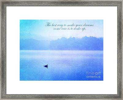The Best Way Framed Print by Darren Fisher