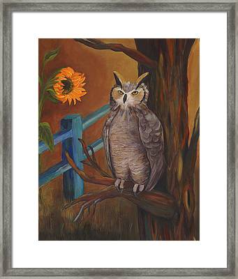 The Better Life- Owl Framed Print by Debbie McCulley
