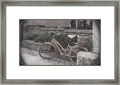 the Bicycle is waiting Framed Print