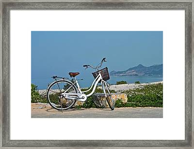 The Bicycle Framed Print by Jocelyn Kahawai