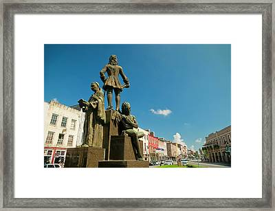 The Bienville Monument New Orleans Framed Print by Andria Patino