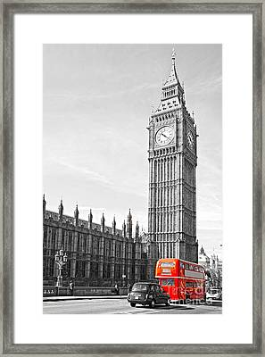 Framed Print featuring the photograph The Big Ben - London by Luciano Mortula