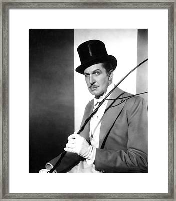The Big Circus, Vincent Price, 1959 Framed Print