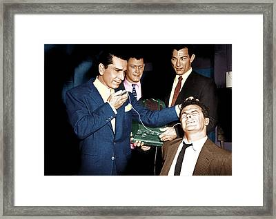 The Big Combo, From Left Richard Conte Framed Print by Everett