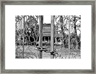 The Big No Framed Print by Dean Harte