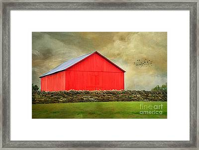 The Big Red Barn Framed Print