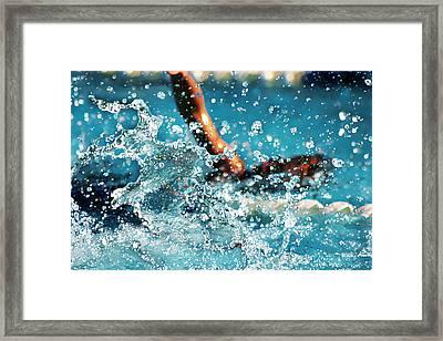 The Big Splash Framed Print by Stephani JeauxDeVine
