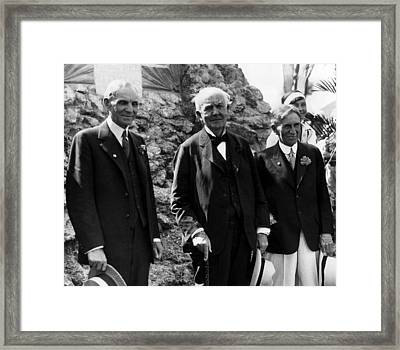 The Big Three Henry Ford,thomas Edison Framed Print by Everett
