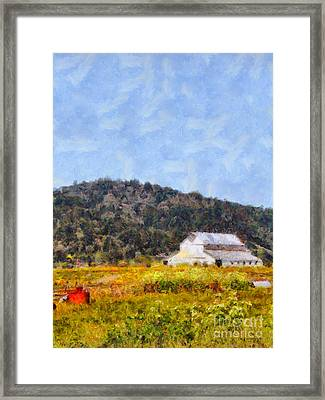 The Big White Barn At Point Reyes California . 7d15933 Framed Print by Wingsdomain Art and Photography