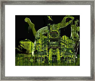 The Biomechanical Statue Garden Of Dr. Buttercup Framed Print by Laura Fedora