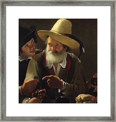 The Bird Seller Framed Print
