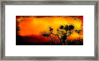 The Bird The Tree And The Mountain Framed Print by Daniel Morgan