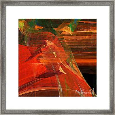 The Bird Whisperer . Square . A120423.693 Framed Print by Wingsdomain Art and Photography